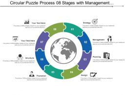 Circular Puzzle Process 08 Stages With Management And Structure