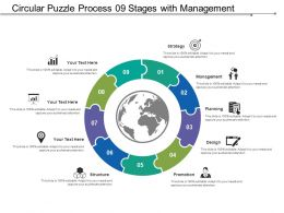 Circular Puzzle Process 09 Stages With Management And Structure
