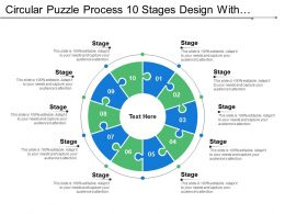 Circular Puzzle Process 10 Stages Design With Numbers