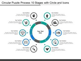 Circular Puzzle Process 10 Stages With Circle And Icons