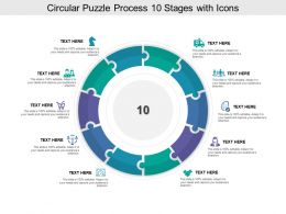 Circular Puzzle Process 10 Stages With Icons