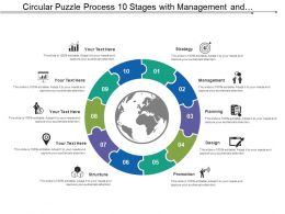 Circular Puzzle Process 10 Stages With Management And Structure