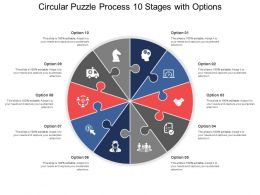 Circular Puzzle Process 10 Stages With Options