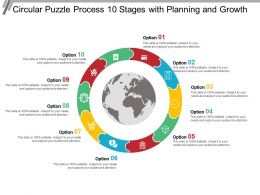 Circular Puzzle Process 10 Stages With Planning And Growth