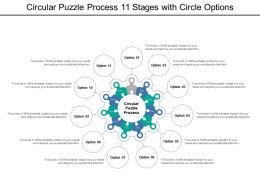 Circular Puzzle Process 11 Stages With Circle Options