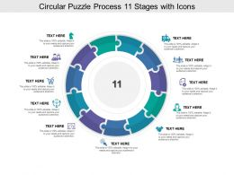 Circular Puzzle Process 11 Stages With Icons
