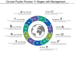 Circular Puzzle Process 11 Stages With Management And Structure