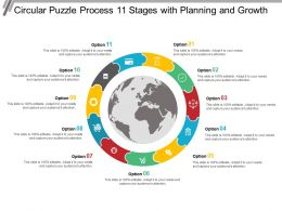 Circular Puzzle Process 11 Stages With Planning And Growth