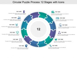 Circular Puzzle Process 12 Stages With Icons