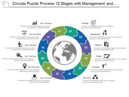 circular_puzzle_process_12_stages_with_management_and_structure_Slide01