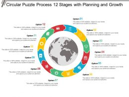 Circular Puzzle Process 12 Stages With Planning And Growth
