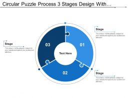 Circular Puzzle Process 3 Stages Design With Numbers