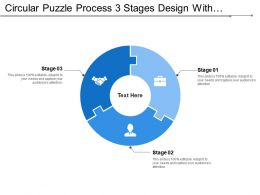 Circular Puzzle Process 3 Stages Design With Symbols