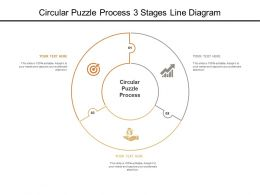 Circular Puzzle Process 3 Stages Line Diagram
