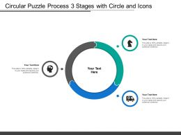 Circular Puzzle Process 3 Stages With Circle And Icons