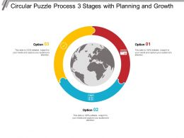 Circular Puzzle Process 3 Stages With Planning And Growth