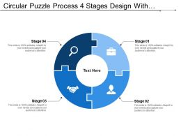 Circular Puzzle Process 4 Stages Design With Symbols