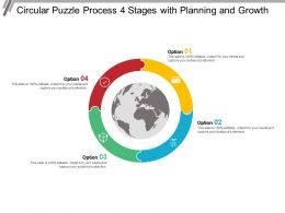 Circular Puzzle Process 4 Stages With Planning And Growth