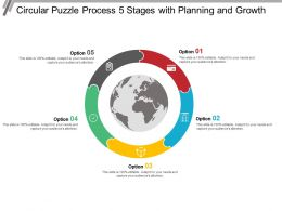 Circular Puzzle Process 5 Stages With Planning And Growth