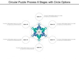 Circular Puzzle Process 6 Stages With Circle Options