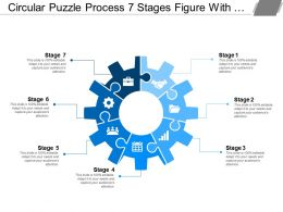 Circular Puzzle Process 7 Stages Figure With Gears