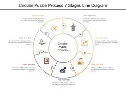 Circular Puzzle Process 7 Stages Line Diagram