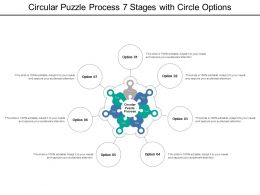Circular Puzzle Process 7 Stages With Circle Options