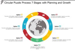 Circular Puzzle Process 7 Stages With Planning And Growth