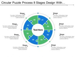 Circular Puzzle Process 8 Stages Design With Numbers