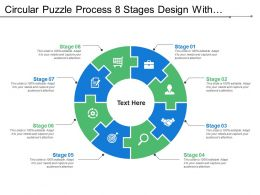 Circular Puzzle Process 8 Stages Design With Symbols