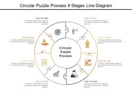 Circular Puzzle Process 8 Stages Line Diagram