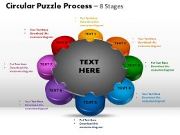 Circular Puzzle Process 8 Stages Powerpoint Slides