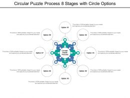 Circular Puzzle Process 8 Stages With Circle Options