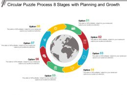 Circular Puzzle Process 8 Stages With Planning And Growth