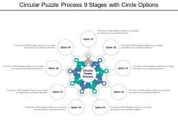 Circular Puzzle Process 9 Stages With Circle Options