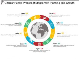 Circular Puzzle Process 9 Stages With Planning And Growth