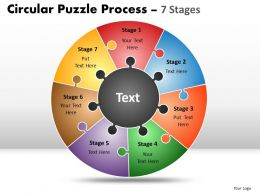 Circular Puzzle Process diagram 7 Stages 8
