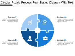 Circular Puzzle Process Four Stages Diagram With Text
