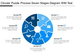 Circular Puzzle Process Seven Stages Diagram With Text