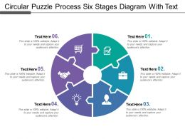Circular Puzzle Process Six Stages Diagram With Text