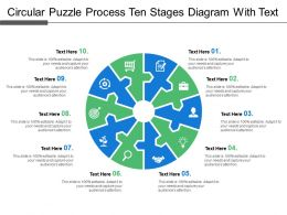 Circular Puzzle Process Ten Stages Diagram With Text