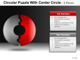 Circular Puzzle with 2 And 3 Powerpoint Presentation Slides db