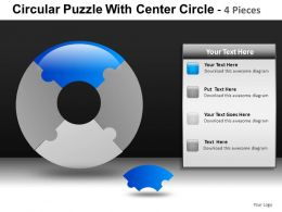 Circular Puzzle With 4 Powerpoint Presentation Slides db