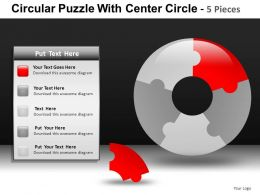 Circular Puzzle With 5 Powerpoint Presentation Slides db