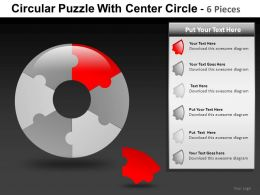 Circular Puzzle With 6 Powerpoint Presentation Slide db