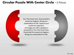 Circular Puzzle With Center Circle 2 and 3