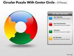 Circular Puzzle With Center Circle 4 Pieces1