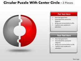 Circular Puzzle With Center Pieces ppt 9