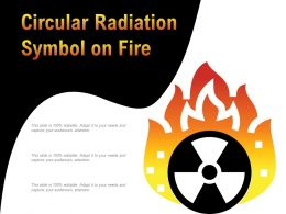Circular Radiation Symbol On Fire