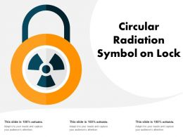 Circular Radiation Symbol On Lock
